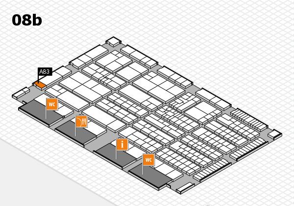 K 2016 hall map (Hall 8b): stand A83