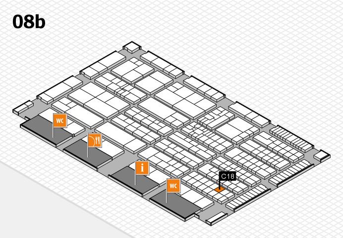 K 2016 hall map (Hall 8b): stand C18