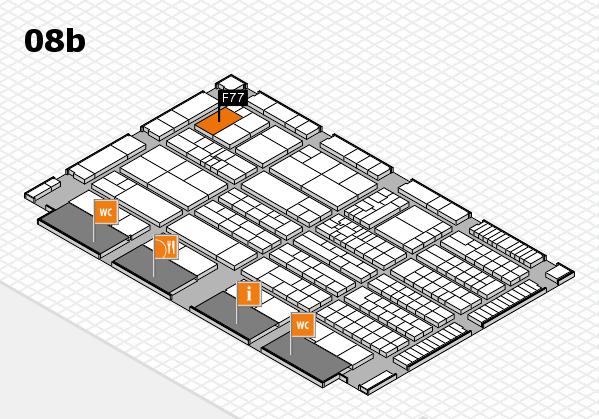 K 2016 hall map (Hall 8b): stand F77