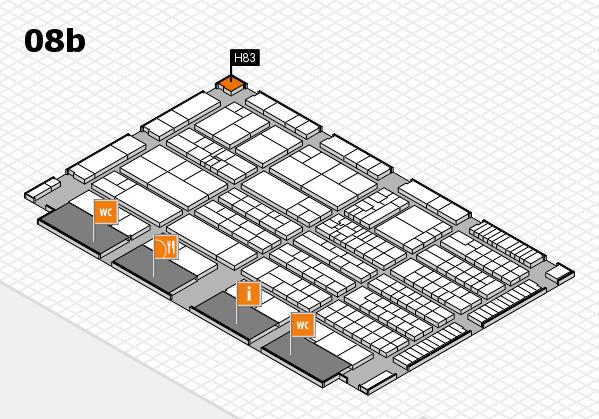 K 2016 hall map (Hall 8b): stand H83