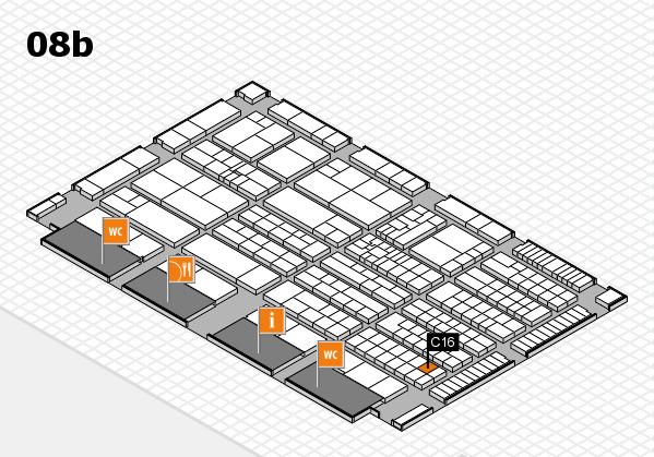 K 2016 hall map (Hall 8b): stand C16