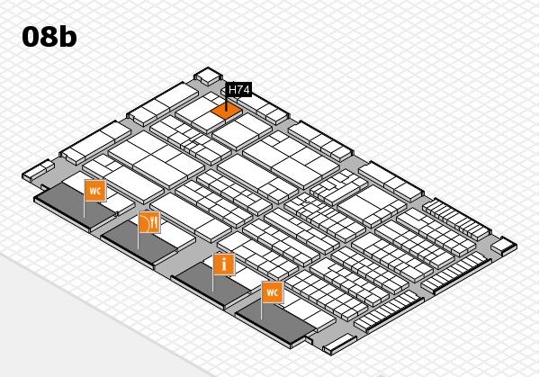 K 2016 Hallenplan (Halle 8b): Stand H74