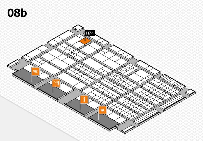 K 2016 hall map (Hall 8b): stand H74