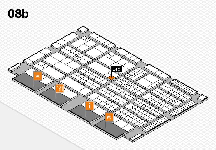 K 2016 hall map (Hall 8b): stand E45