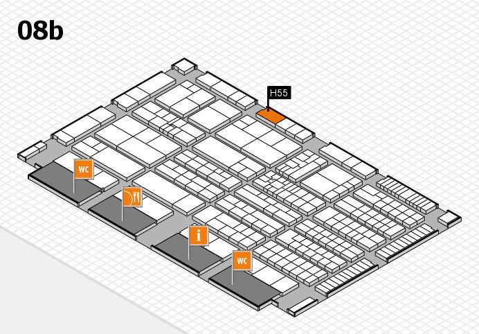 K 2016 hall map (Hall 8b): stand H55
