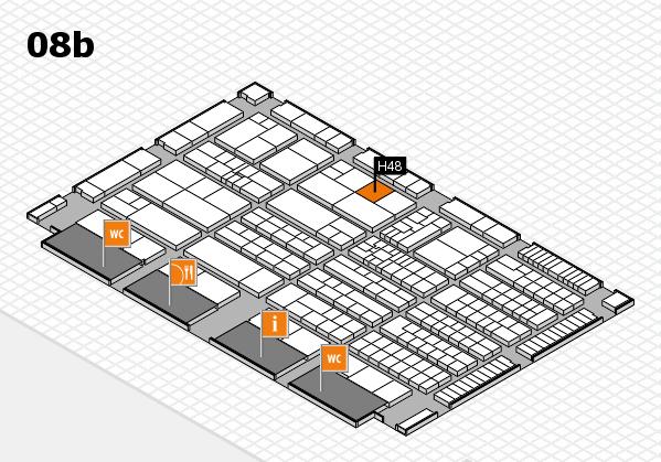 K 2016 hall map (Hall 8b): stand H48