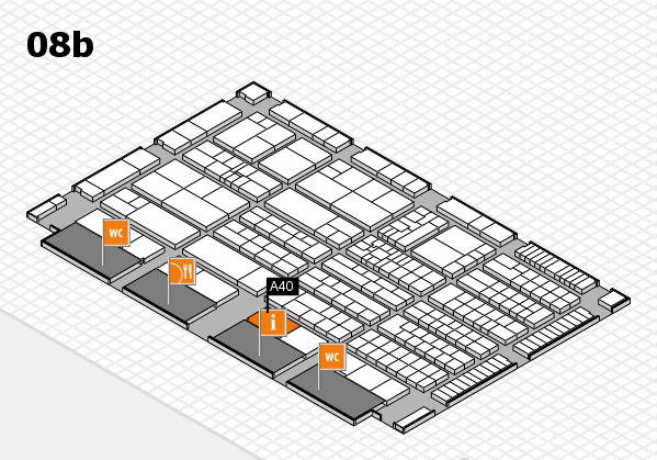 K 2016 hall map (Hall 8b): stand A40