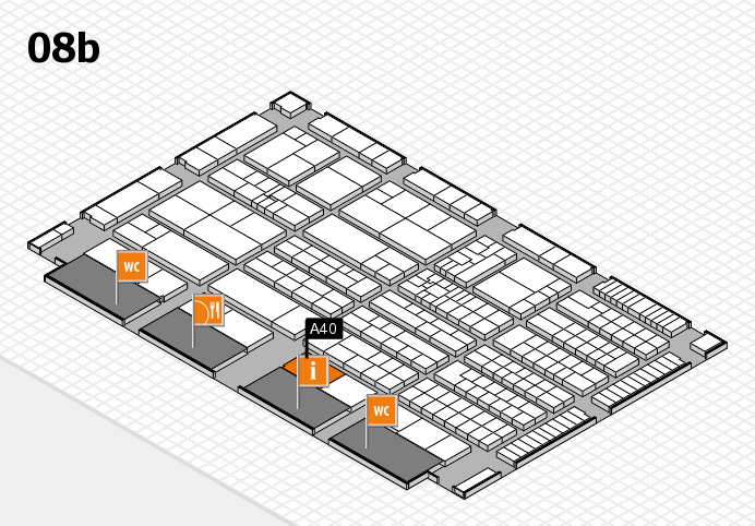 K 2016 Hallenplan (Halle 8b): Stand A40