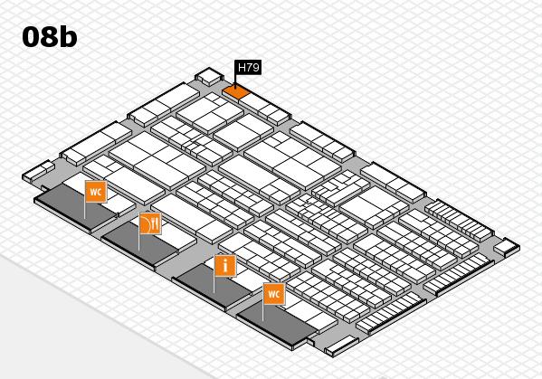 K 2016 hall map (Hall 8b): stand H79