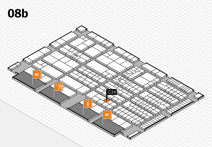 K 2016 hall map (Hall 8b): stand C36