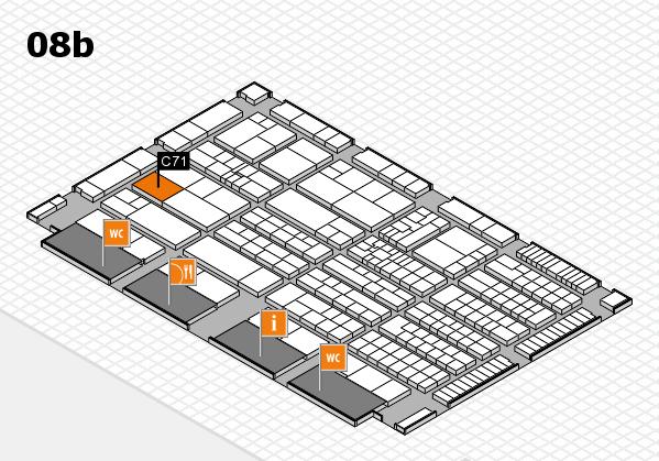 K 2016 hall map (Hall 8b): stand C71