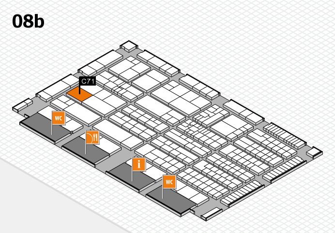 K 2016 Hallenplan (Halle 8b): Stand C71