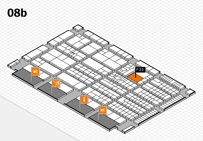 K 2016 hall map (Hall 8b): stand F35