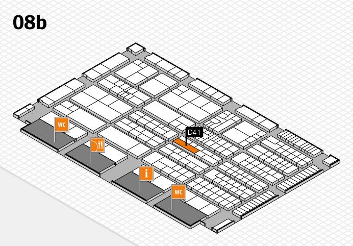 K 2016 hall map (Hall 8b): stand D41