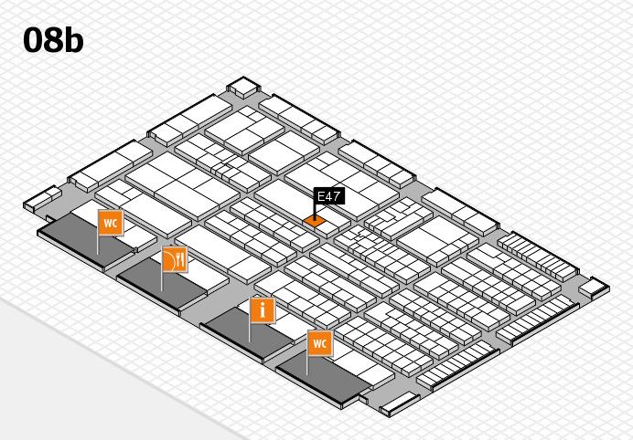 K 2016 hall map (Hall 8b): stand E47