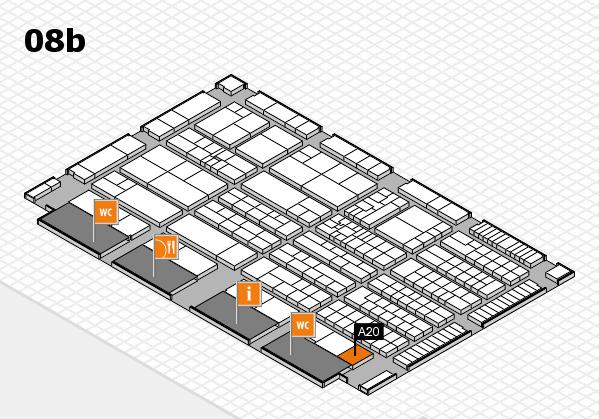 K 2016 hall map (Hall 8b): stand A20