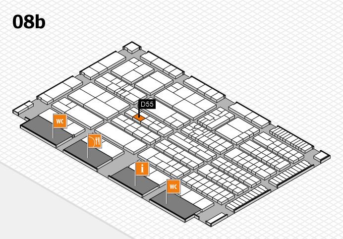 K 2016 Hallenplan (Halle 8b): Stand D55
