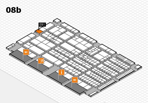 K 2016 Hallenplan (Halle 8b): Stand E81