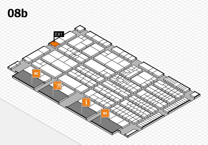 K 2016 hall map (Hall 8b): stand E81