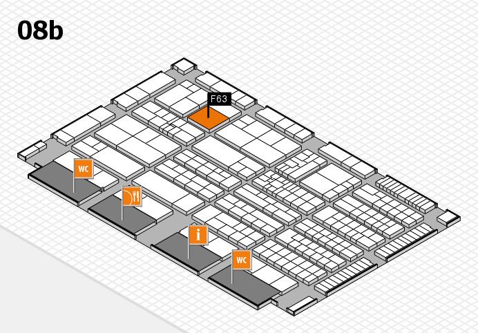K 2016 hall map (Hall 8b): stand F63
