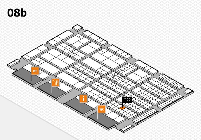 K 2016 hall map (Hall 8b): stand C22