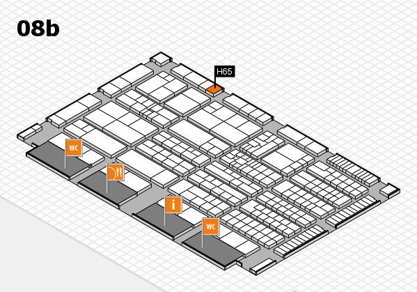 K 2016 Hallenplan (Halle 8b): Stand H65