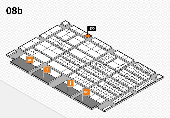 K 2016 hall map (Hall 8b): stand H65