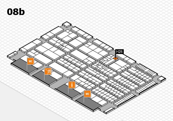 K 2016 hall map (Hall 8b): stand H28