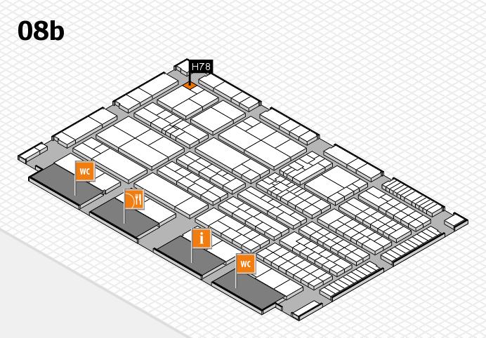 K 2016 hall map (Hall 8b): stand H78