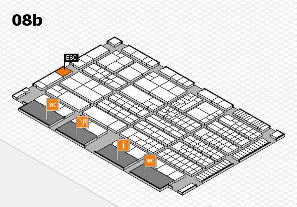K 2016 hall map (Hall 8b): stand E80