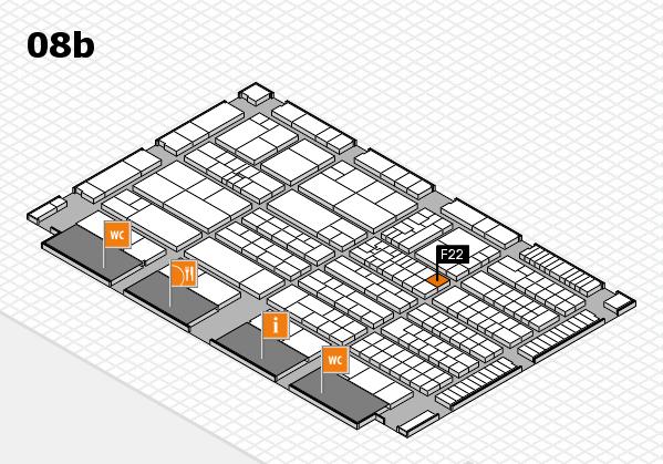 K 2016 hall map (Hall 8b): stand F22