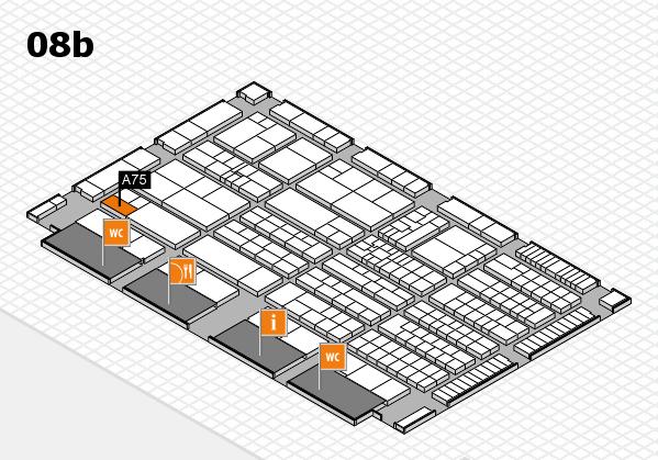 K 2016 hall map (Hall 8b): stand A75