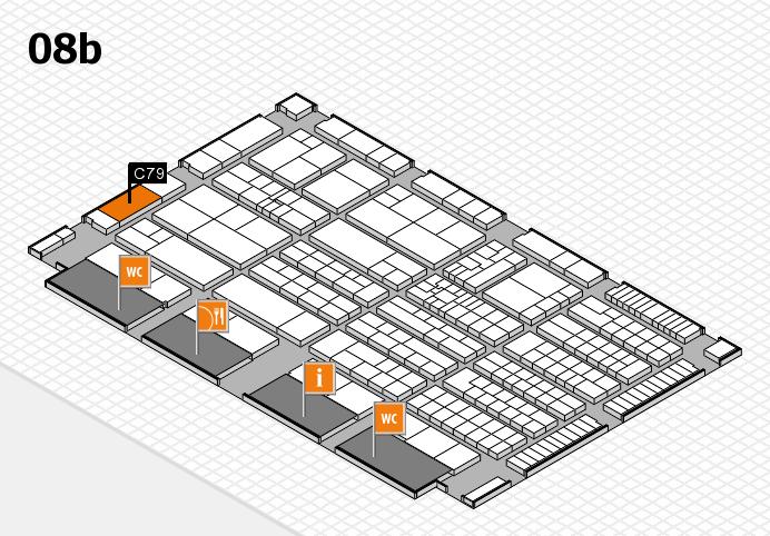 K 2016 hall map (Hall 8b): stand C79