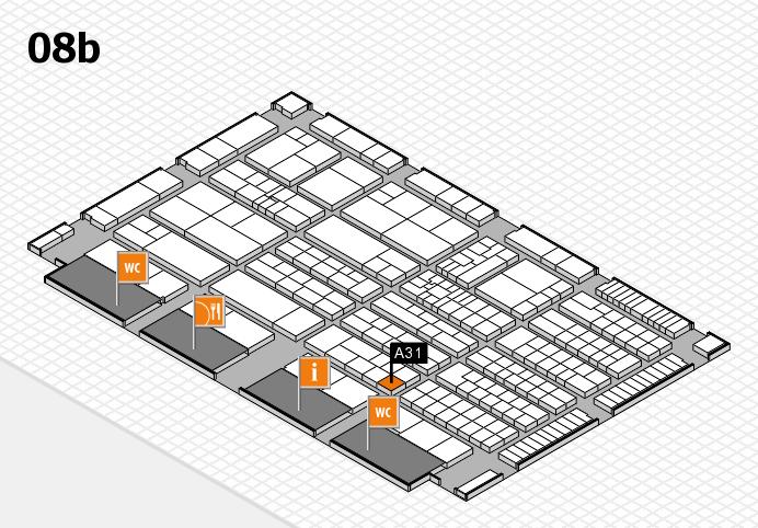 K 2016 hall map (Hall 8b): stand A31