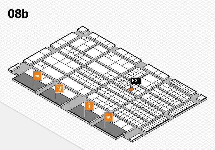 K 2016 hall map (Hall 8b): stand E31