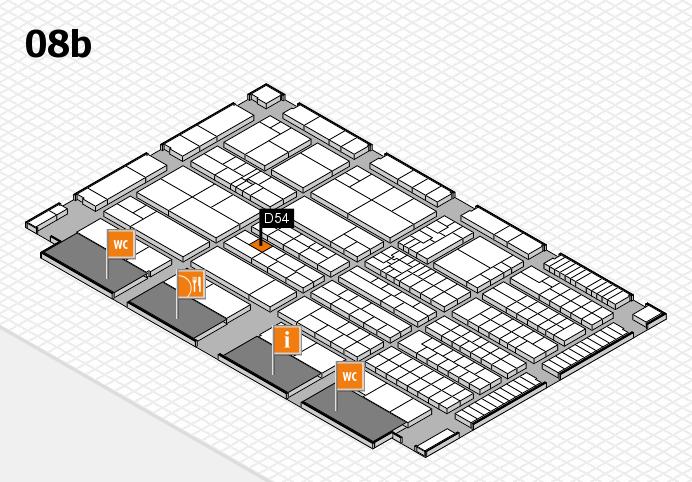 K 2016 hall map (Hall 8b): stand D54