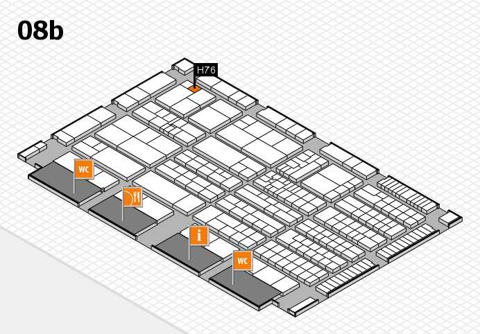 K 2016 hall map (Hall 8b): stand H76