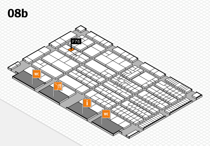 K 2016 hall map (Hall 8b): stand F76