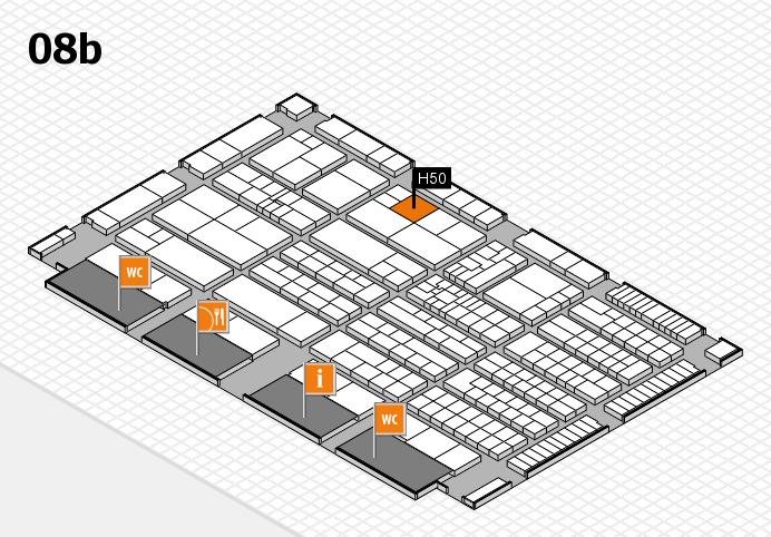 K 2016 hall map (Hall 8b): stand H50