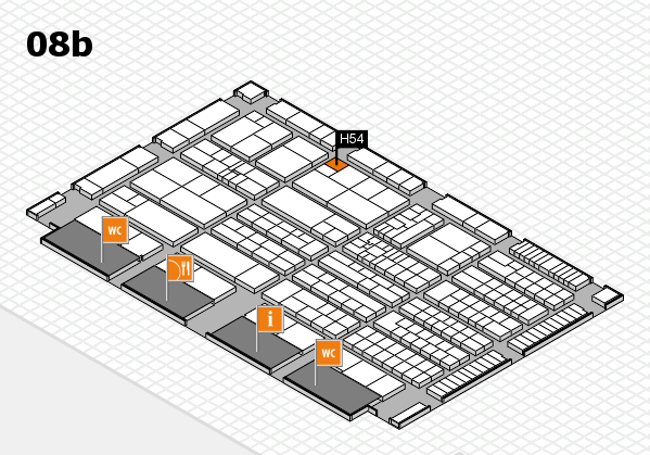 K 2016 hall map (Hall 8b): stand H54