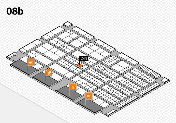 K 2016 hall map (Hall 8b): stand D49