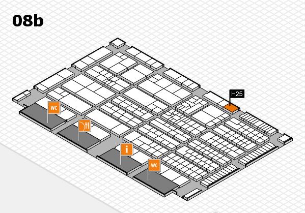 K 2016 Hallenplan (Halle 8b): Stand H25