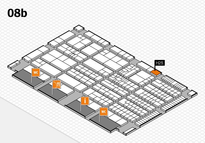 K 2016 hall map (Hall 8b): stand H25