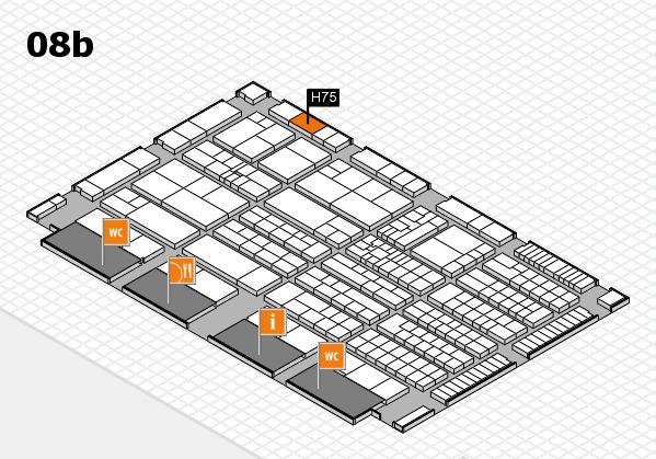 K 2016 hall map (Hall 8b): stand H75