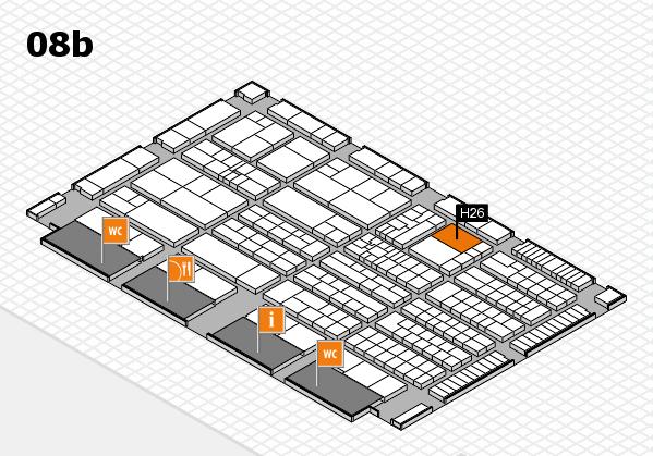 K 2016 hall map (Hall 8b): stand H26