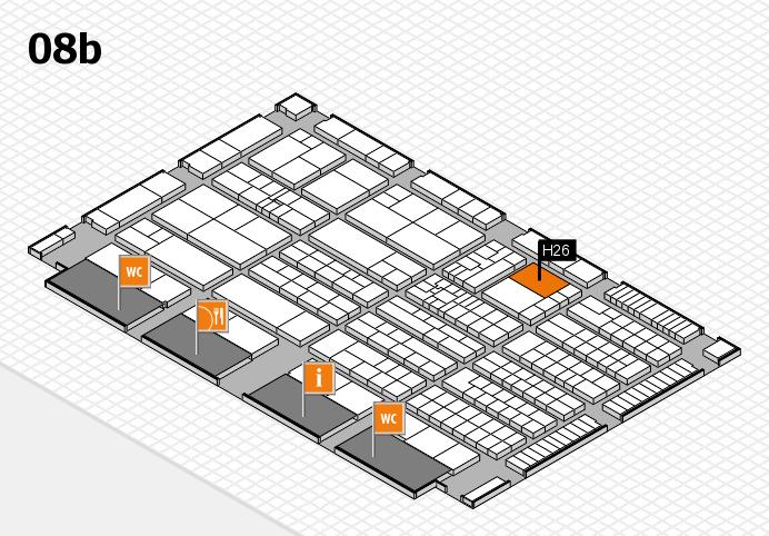 K 2016 Hallenplan (Halle 8b): Stand H26