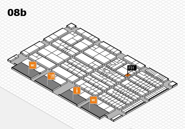 K 2016 hall map (Hall 8b): stand F31