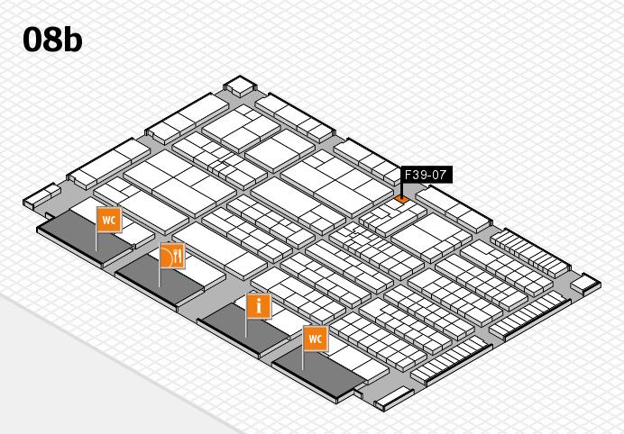 K 2016 hall map (Hall 8b): stand F39-07