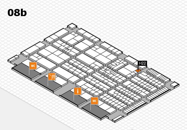 K 2016 hall map (Hall 8b): stand H22