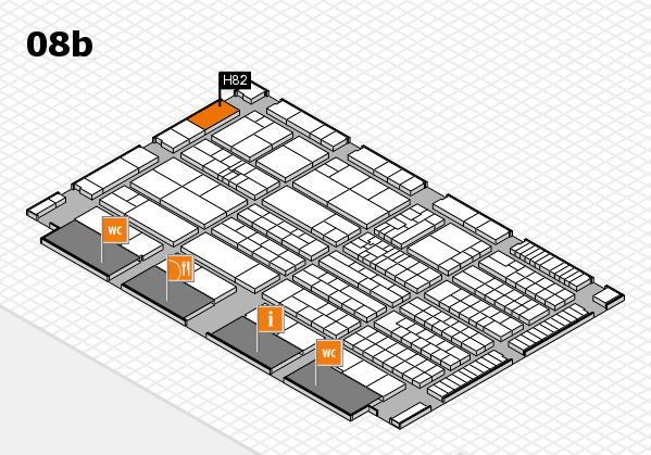 K 2016 hall map (Hall 8b): stand H82